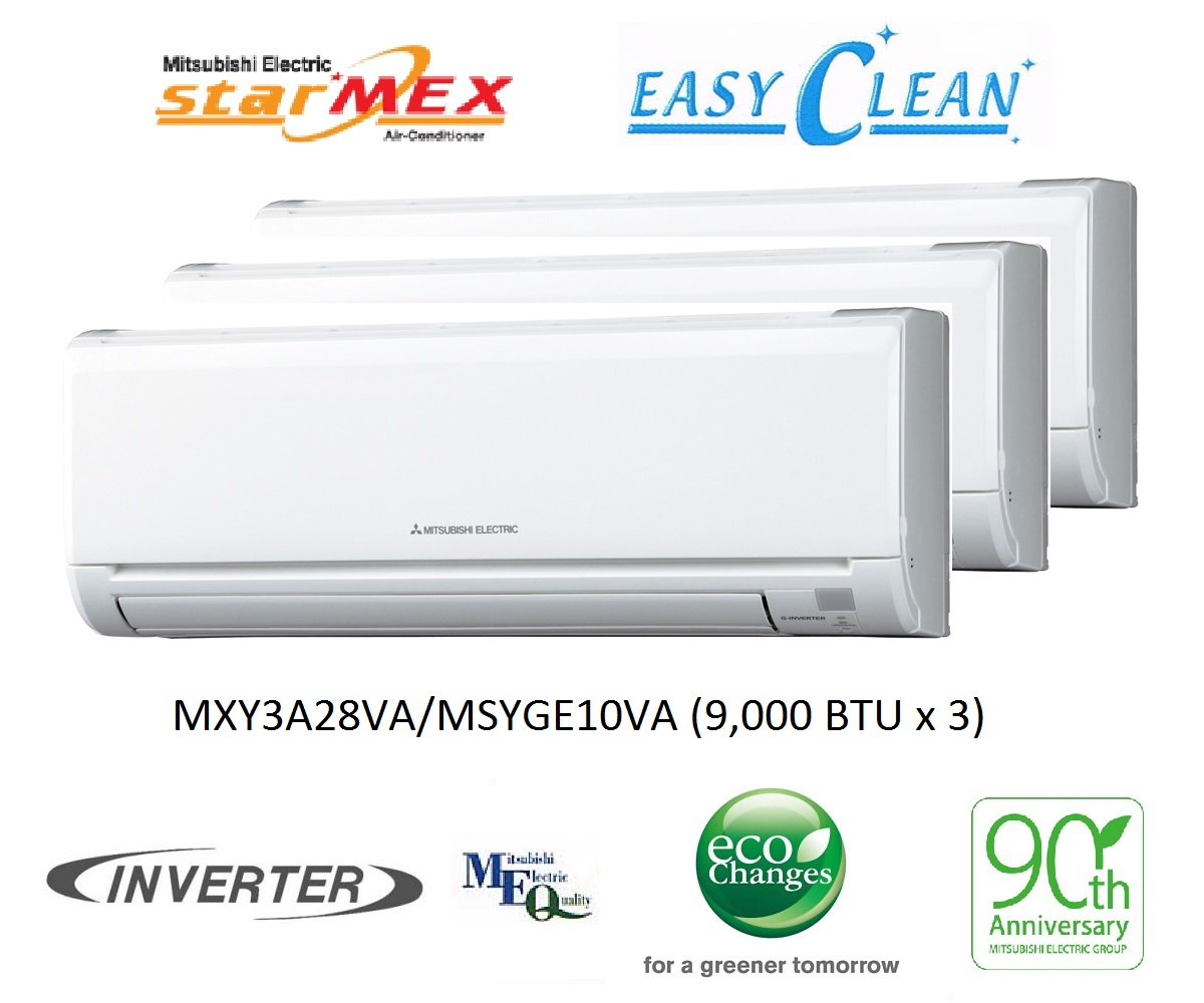 Mitsubishi Electric (StarMex) Inverter Multi Split System 3 #BE6D0D