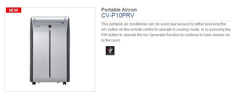 Sharp Portable Air Con Promotion